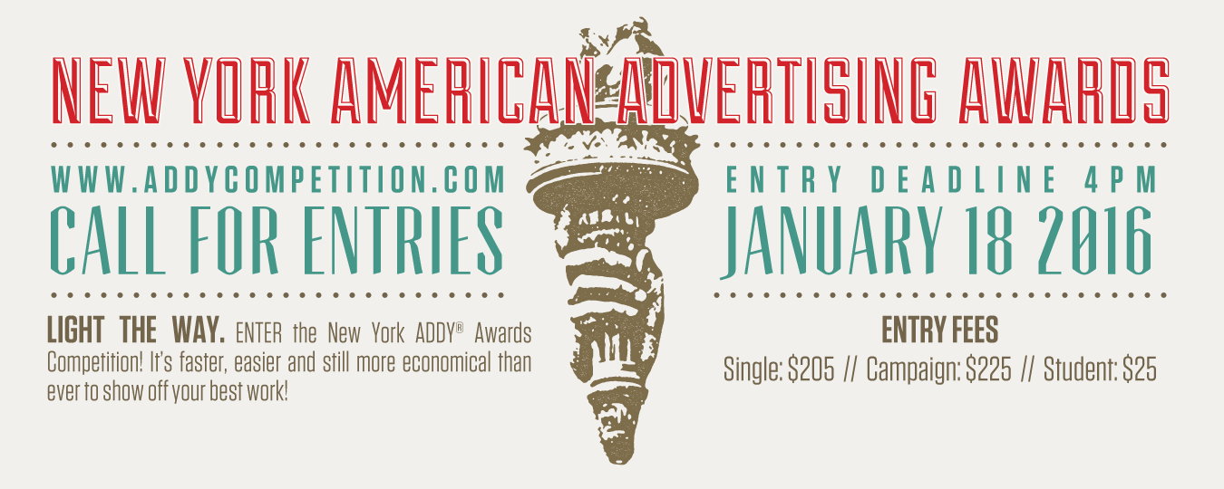 2016 NY ADDY Awards - Call for Entries